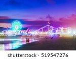Santa Monica  Beach At Night ...
