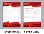 red flyer design template  ... | Shutterstock .eps vector #519550882