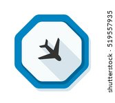 airport  plane hazard sign | Shutterstock .eps vector #519557935