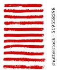 set of grunge ink vector... | Shutterstock .eps vector #519558298