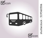 bus sign icon. public transport ... | Shutterstock .eps vector #519560506