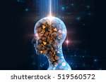 virtual human 3dillustration on ... | Shutterstock . vector #519560572