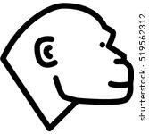 monkey icon | Shutterstock .eps vector #519562312