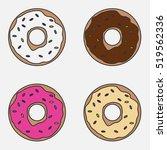 Set Donuts  Donut Icon ...
