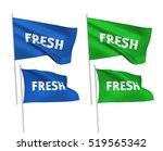 fresh   vector flags. a set of... | Shutterstock .eps vector #519565342