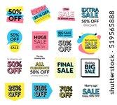 set of flat design sale... | Shutterstock .eps vector #519565888