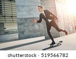 businessman takes a ride on... | Shutterstock . vector #519566782