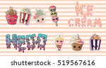 pins  badges and stickers set.... | Shutterstock .eps vector #519567616