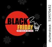black friday sale background... | Shutterstock .eps vector #519570652