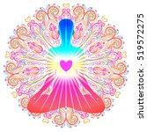 Heart Chakra Concept. Inner...