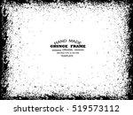 grunge frame   abstract texture.... | Shutterstock .eps vector #519573112