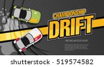 top view of a drifting cars.... | Shutterstock .eps vector #519574582