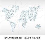 world map circuit | Shutterstock .eps vector #519575785