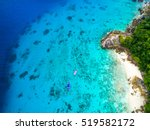 tropical island with white sand ... | Shutterstock . vector #519582172