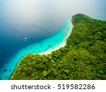beautiful tropical island with... | Shutterstock . vector #519582286