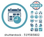 date and time icon with bonus... | Shutterstock . vector #519585802