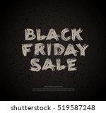 black friday sale banner | Shutterstock .eps vector #519587248