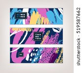 set of artistic creative cards... | Shutterstock .eps vector #519587662