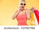 Shopping. Young Smiling Woman...