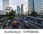 traffic captured with blurred... | Shutterstock . vector #519588406