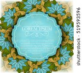 vector colored floral template... | Shutterstock .eps vector #519593596