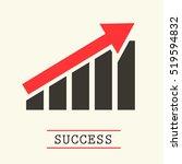 up red arrow graph. success...   Shutterstock .eps vector #519594832
