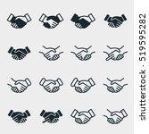 handshake friendship... | Shutterstock .eps vector #519595282