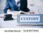 folder with word custody on... | Shutterstock . vector #519597595