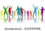 vector silhouette of family.... | Shutterstock .eps vector #519599098