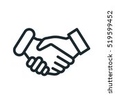 handshake friendship... | Shutterstock .eps vector #519599452