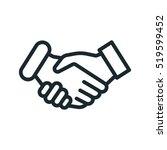 handshake friendship... | Shutterstock .eps vector #519599452