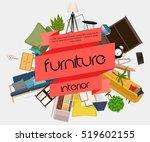furniture interior. different... | Shutterstock .eps vector #519602155