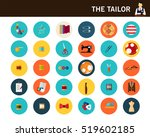 the tailor concept flat icons. | Shutterstock .eps vector #519602185