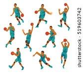 basketball player nine position ... | Shutterstock .eps vector #519603742