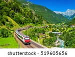 Intercity Train At The Gotthar...