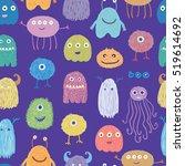vector seamless pattern. bright ... | Shutterstock .eps vector #519614692