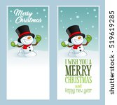 christmas greeting cards  with... | Shutterstock .eps vector #519619285