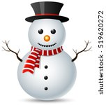 snowman christmas isolated on... | Shutterstock .eps vector #519620272