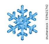 polygonal christmas snowflake.  ... | Shutterstock .eps vector #519621742