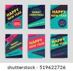 merry christmas new year design ... | Shutterstock .eps vector #519622726