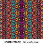 ethnic tribal festive pattern... | Shutterstock .eps vector #519623662
