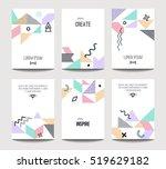 vector trendy brochure... | Shutterstock .eps vector #519629182