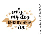 dog lettering. vector card with ... | Shutterstock .eps vector #519630646