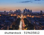 Sunset Over Champs Elysees And...