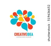 creative idea   business vector ... | Shutterstock .eps vector #519636652