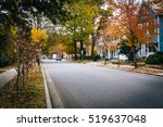 autumn color and houses along... | Shutterstock . vector #519637048