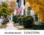 autumn color and house in... | Shutterstock . vector #519637096