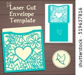 lasercut vector wedding... | Shutterstock .eps vector #519637816