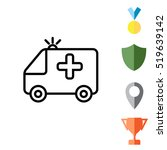 ambulance icon | Shutterstock .eps vector #519639142