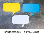 three of yellow  blue and white ... | Shutterstock . vector #519639805